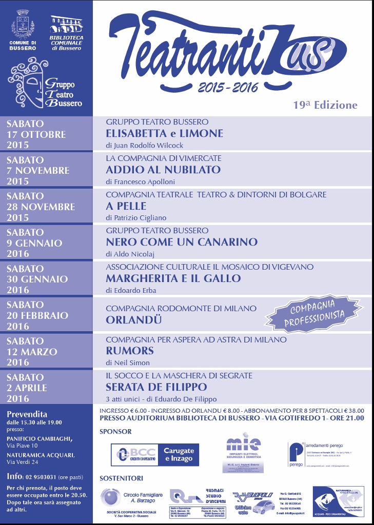 programma Teatrantibus 2015-2016